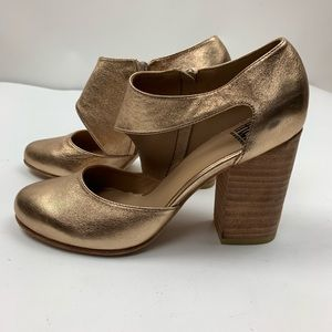 Fortress of Inca Shoes - Fortress of Inca Gold Cutout Heels